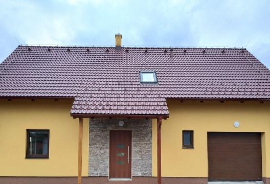 Dřevostavba na klíč z Vysočiny - podkrovní dům včetně garáže, sklepa, terasy