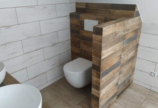 koupelna dřevostavby Vysočina